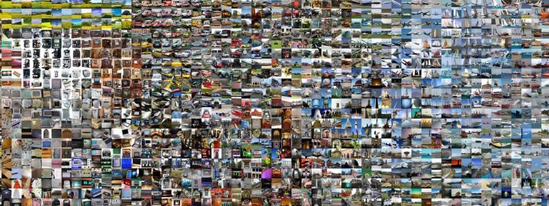Derin öğrenme ağ yapısının oluşturulmasında kullanılan milyonlarca resimden bir örnek set.